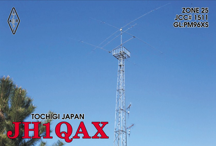 QSL image for JH1QAX