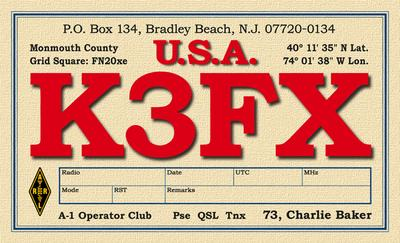 QSL image for K3FX