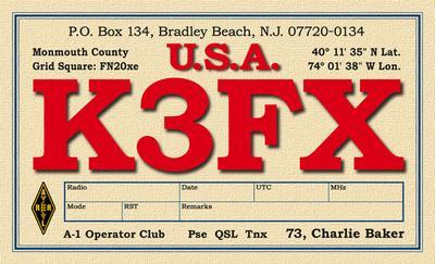QSL image for K3FX
