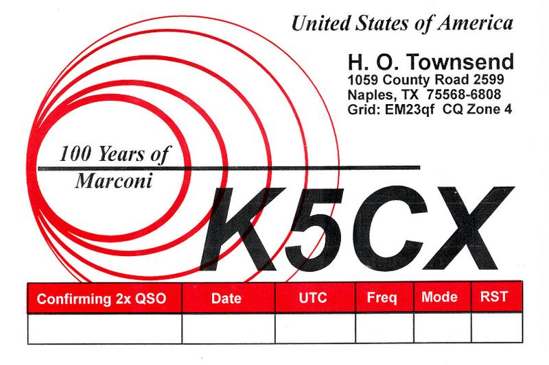 QSL image for K5CX