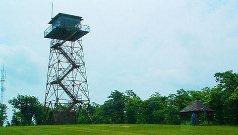 Forestry Service tower we operated out of
