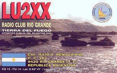 QSL image for LU2XX