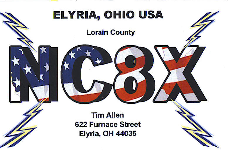 QSL image for NC8X