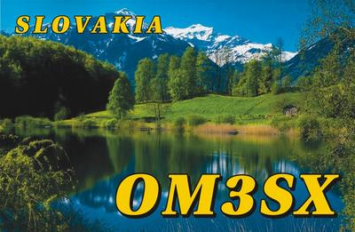 QSL image for OM3SX