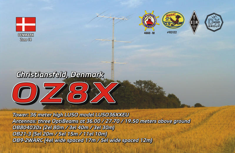 QSL image for OZ8X