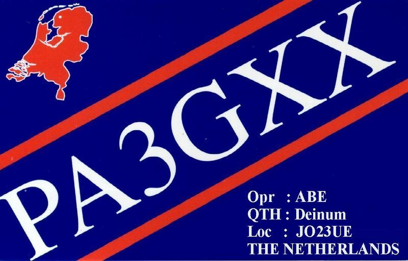 QSL image for PA3GXX