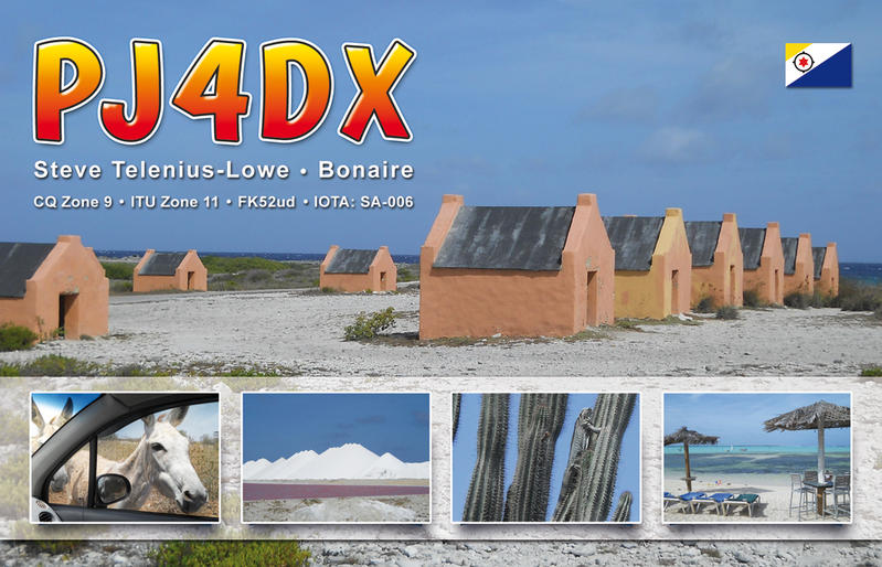 QSL image for PJ4DX
