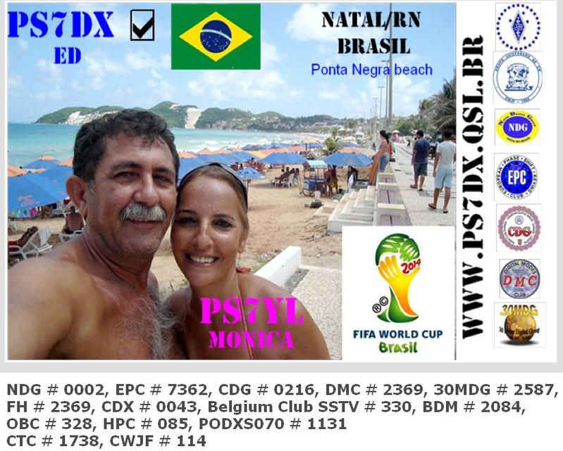 QSL image for PS7DX