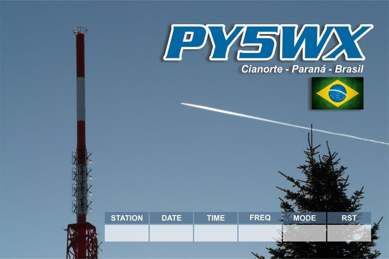 QSL image for PY5WX