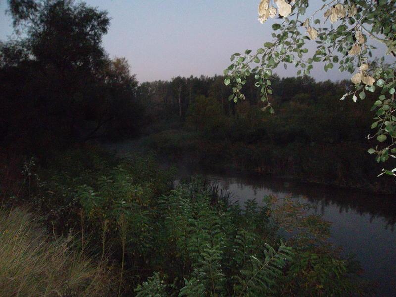 The river Merlo befor sunrise