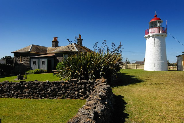 Flagstaff Hill Lighthouse and Keepers cottage.