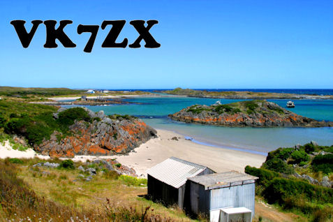 QSL image for VK7ZX