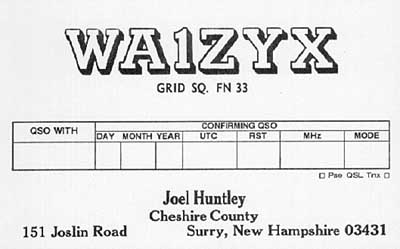 QSL image for WA1ZYX