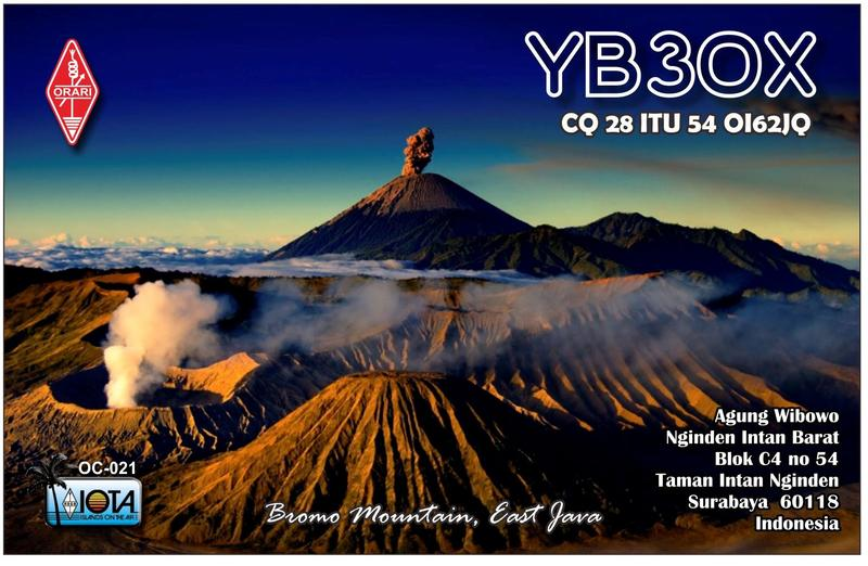 QSL image for YB3OX