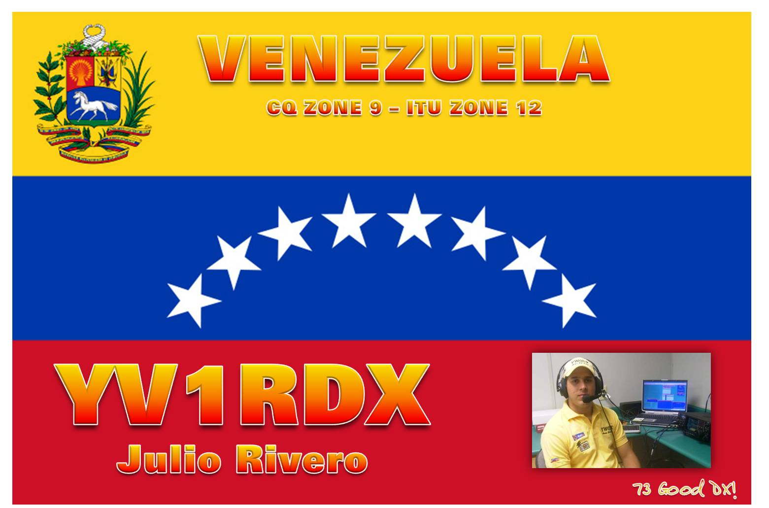QSL image for YV1RDX