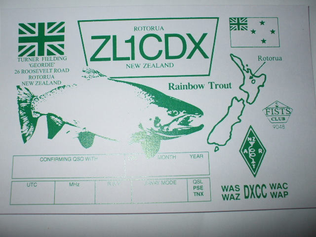 QSL image for ZL1CDX