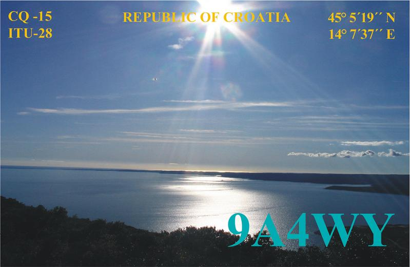 QSL image for 9A4WY