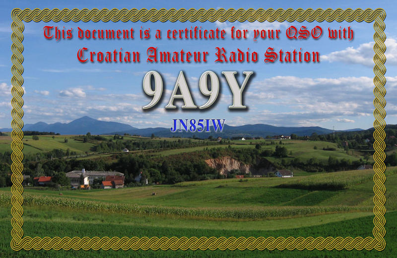 QSL image for 9A9Y