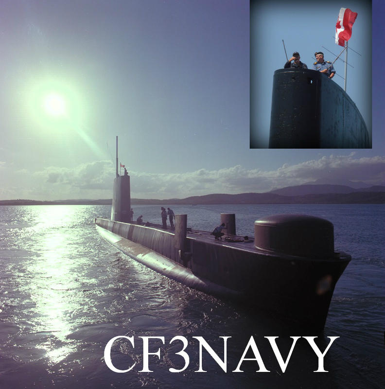 QSL image for CF3NAVY