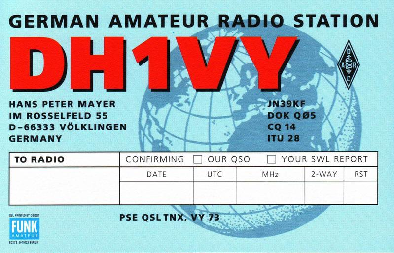QSL image for DH1VY