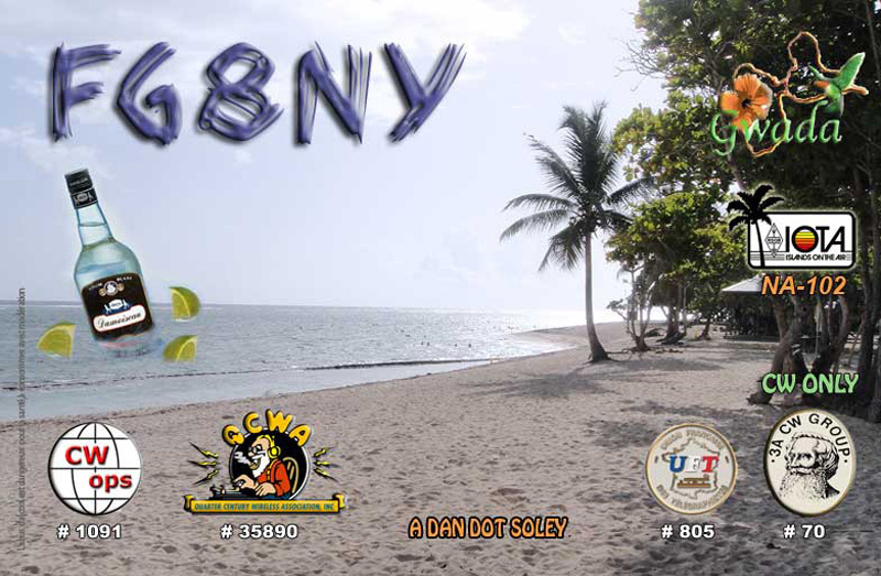 QSL image for FG8NY