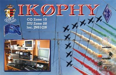 QSL image for IK0PHY