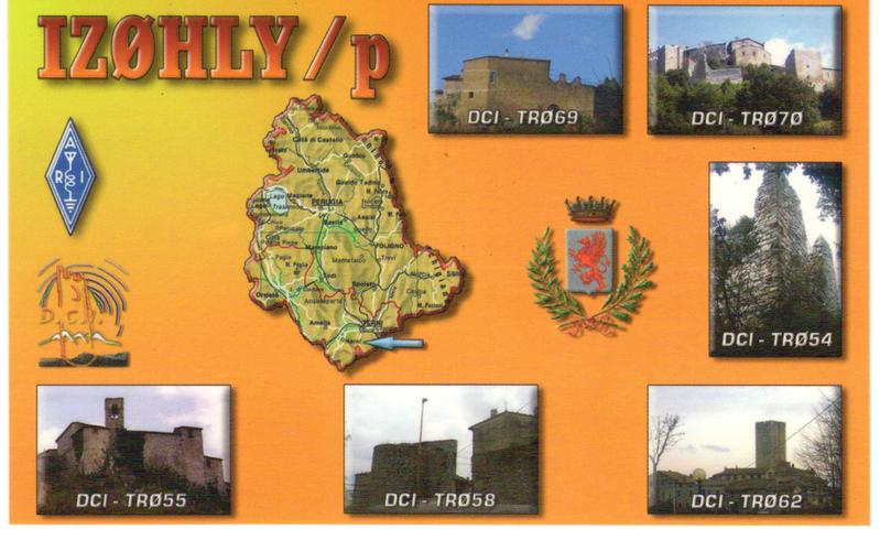 my qsl cards for the castles