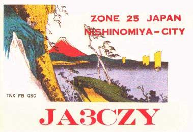 QSL image for JA3CZY