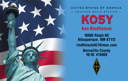 QSL image for KO5Y