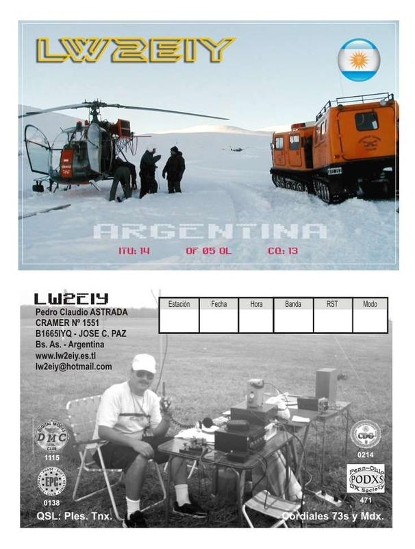 QSL image for LW2EIY