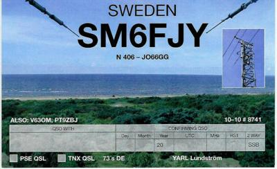 QSL image for SM6FJY