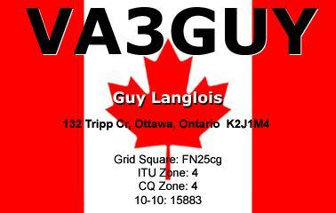 QSL image for VA3GUY
