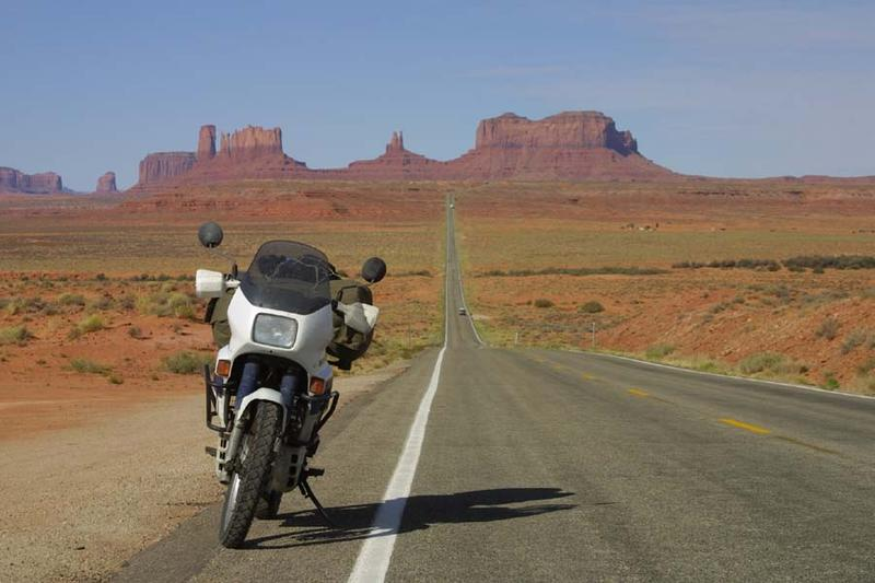 Bike at Monument Valley