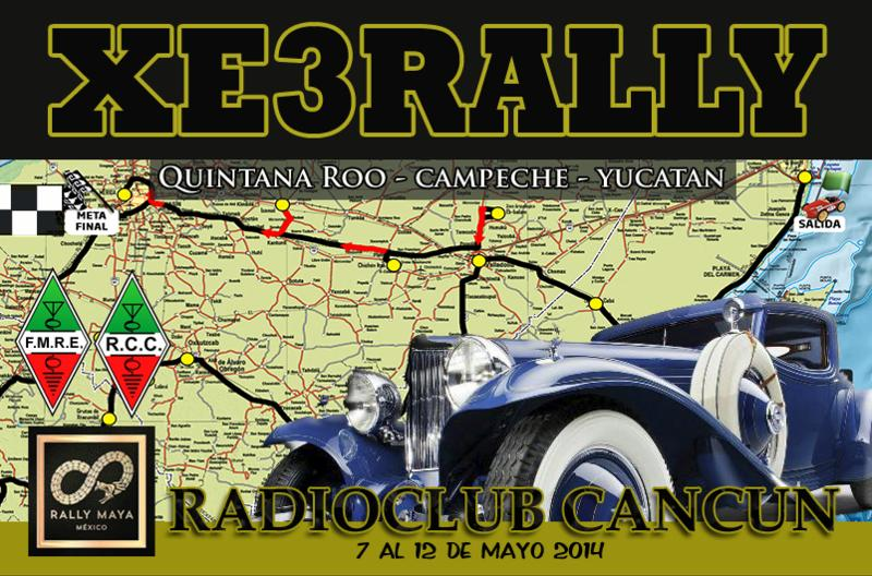 QSL image for XE3RALLY