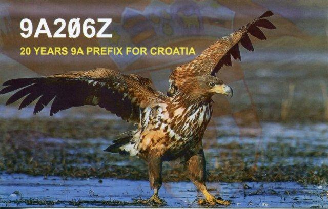 QSL image for 9A206Z