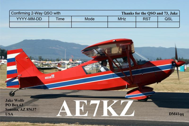 QSL image for AE7KZ