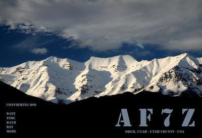 QSL image for AF7Z