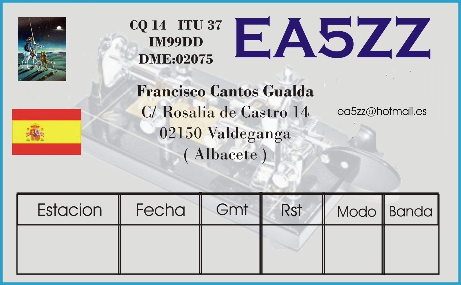 QSL image for EA5ZZ