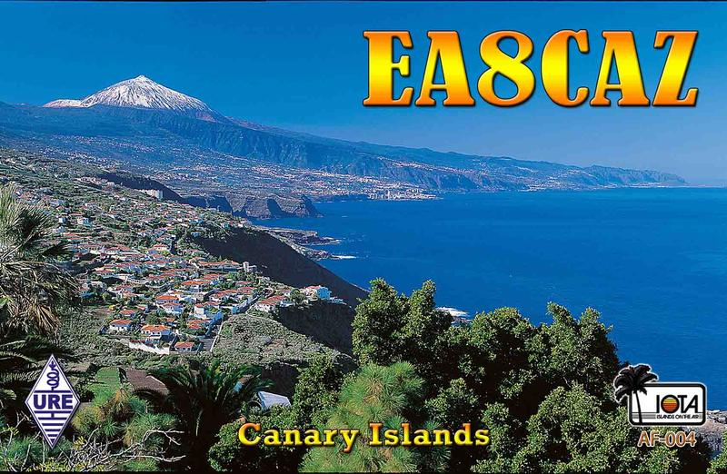 QSL image for EA8CAZ