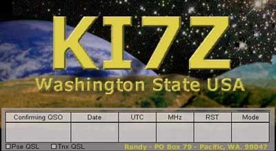 QSL image for KI7Z