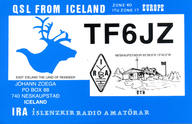 QSL image for TF6JZ