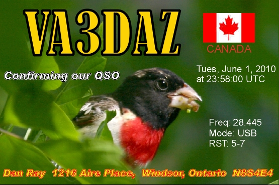 QSL image for VA3DAZ