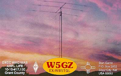 QSL image for W5GZ