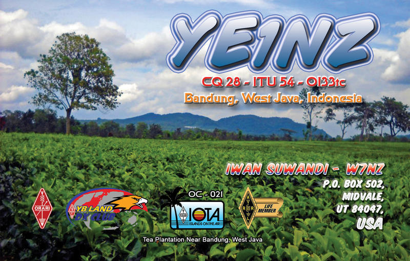 QSL image for YE1NZ