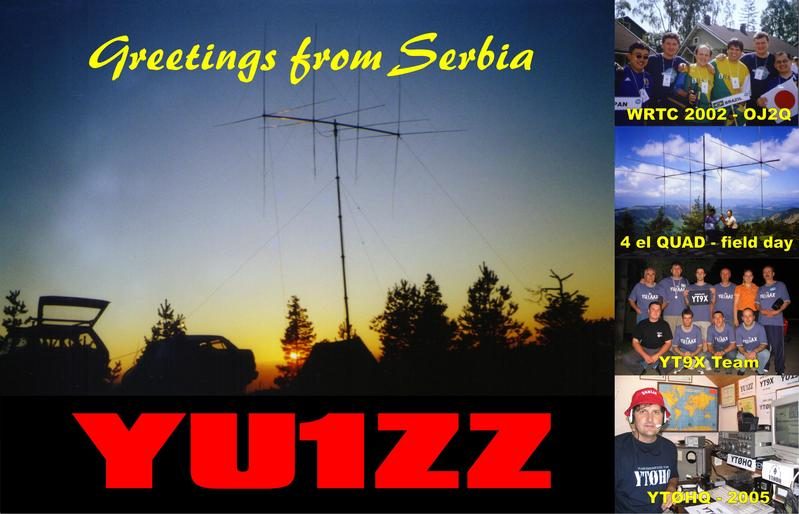 QSL image for YU1ZZ