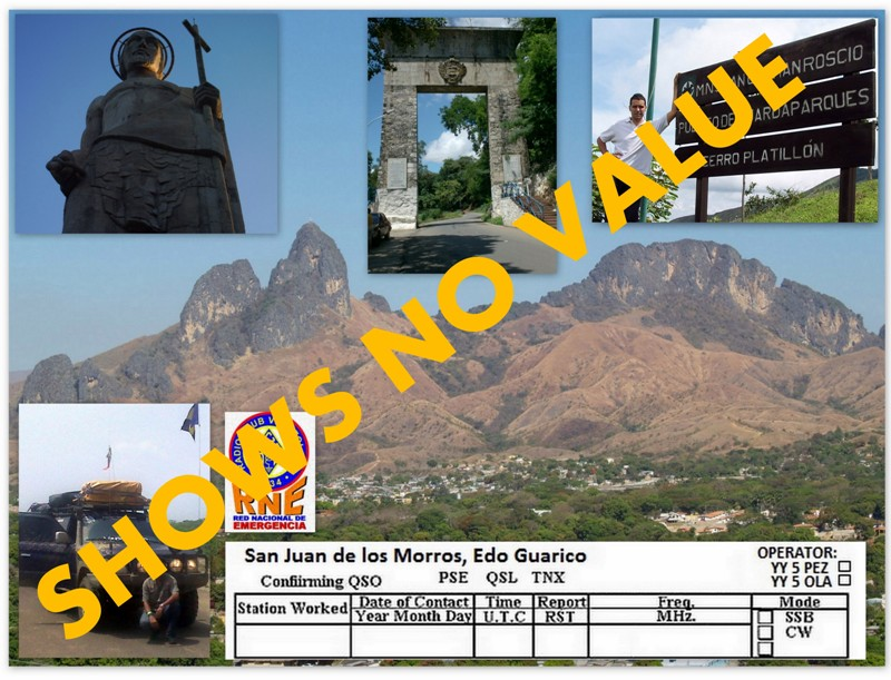 QSL image for YY5PEZ